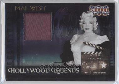 2007 Donruss Americana - Hollywood Legends - Materials [Memorabilia] #HL-9 - Mae West /350