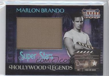 2007 Donruss Americana - Hollywood Legends - Super Stars Materials [Memorabilia] #HL-28 - Marlon Brando /25
