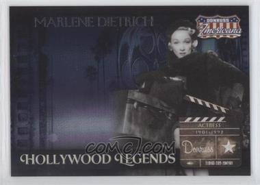 2007 Donruss Americana - Hollywood Legends #HL-36 - Marlene Dietrich /500