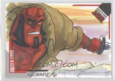 2007 Inkworks Hellboy Animated Sword of Storms - Sketch Cards #SK.10 - Cynthia Cummens /241