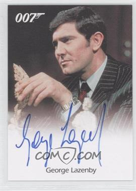 2007 Rittenhouse The Complete James Bond 007 - Full-Bleed Autographs #N/A - George Lazenby as James Bond