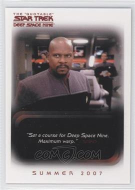 "2007 Rittenhouse The ""Quotable"" Star Trek: Deep Space Nine - Promos #P1 - Captain Benjamin Cisko"