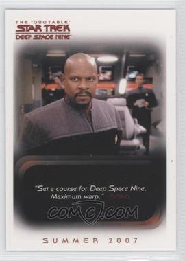 "2007 Rittenhouse The ""Quotable"" Star Trek: Deep Space Nine - Promos #P1 - Captain Benjamin Cisko"