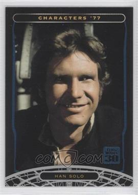 2007 Topps Star Wars 30th Anniversary - [Base] - Blue Foil #5 - Han Solo