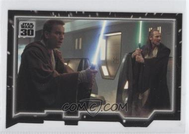 2007 Topps Star Wars 30th Anniversary - Tryptich Puzzle Pieces #6.1 - Master and Apprentice
