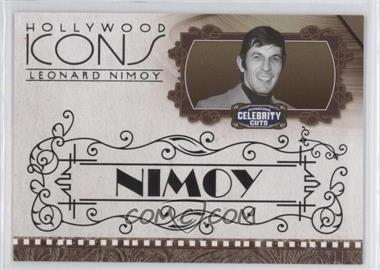 2008 Donruss Americana Celebrity Cuts - Hollywood Icons - Black #HI-LN - Leonard Nimoy /10