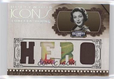 2008 Donruss Americana Celebrity Cuts - Hollywood Icons - Hero Die-Cut Quad Materials [Memorabilia] #HI-LY - Loretta Young /25