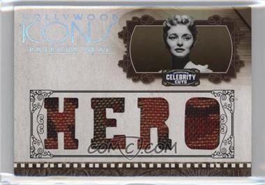 2008 Donruss Americana Celebrity Cuts - Hollywood Icons - Hero Die-Cut Quad Materials [Memorabilia] #HI-PN - Patricia Neal /25