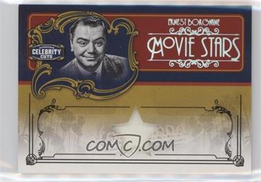 2008 Donruss Americana Celebrity Cuts - Movie Stars - Materials [Memorabilia] #MS-EB - Ernest Borgnine /10