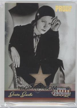 2008 Donruss Americana II - [Base] - Gold Proof Stars Materials [Memorabilia] #207 - Greta Garbo /25