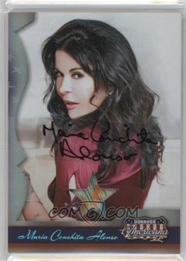 2008 Donruss Americana II - [Base] - Stars Materials Signatures [Autographed] [Memorabilia] #122 - Maria Conchita Alonso /250