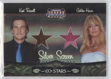 2008 Donruss Americana II - Co-Stars - Silver Screen Stars Materials [Memorabilia] #CSM-11 - Kurt Russell, Goldie Hawn /100
