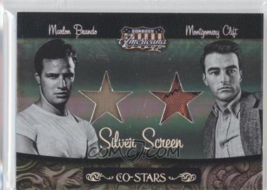 2008 Donruss Americana II - Co-Stars - Silver Screen Stars Materials [Memorabilia] #CSM-13 - Marlon Brando, Montgomery Clift /100