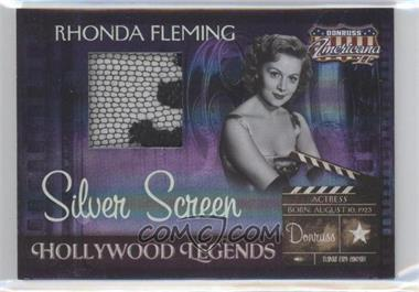 2008 Donruss Americana II - Hollywood Legends - Silver Screen Materials [Memorabilia] #HL-47 - Rhonda Fleming /100