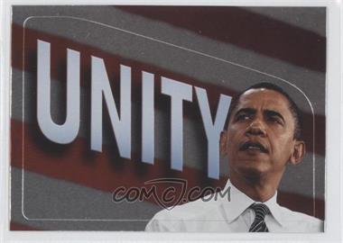 2008 Topps President Obama Collector Trading Cards - Stickers - Foil #12 - Unity