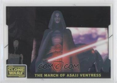 2008 Topps Star Wars: The Clone Wars - Animation Cel #4 - The March of Asajj Ventress