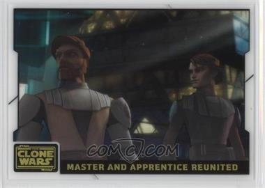 2008 Topps Star Wars: The Clone Wars - Animation Cel #8 - Master and Apprentice Reunited
