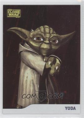 2008 Topps Star Wars: The Clone Wars - [Base] - Foil #7 - Yoda /205