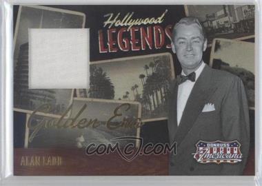 2009 Donruss Americana - Hollywood Legends - Golden Era Materials [Memorabilia] #9 - Alan Ladd /50