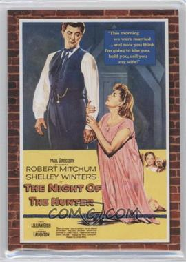 2009 Donruss Americana - Movie Posters Materials Triples #61 - Lillian Gish, Robert Mitchum, Shelly Winters /500