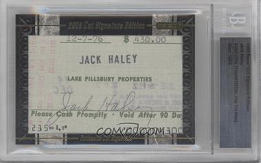 2009 Razor Cut Signature Edition - Authentic Cut Signature #JAHA - Jack Haley [BGSAUTHENTIC]