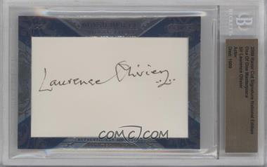 2009 Razor Cut Signature Edition - One of One Masterpieces #LAOL - Sir Laurence Olivier /1 [BGSAUTHENTIC]