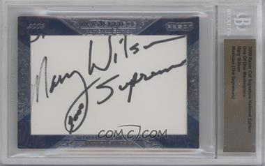 2009 Razor Cut Signature Edition - One of One Masterpieces #MAWI - Mary Wilson /1 [BGS AUTHENTIC]