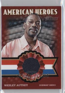 2009 Topps Heritage American Heroes Edition - American Heroes Relics #AHR WA - Wesley Autrey