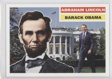 2009 Topps Heritage American Heroes Edition - [Base] #138 - Abraham Lincoln, Barack Obama