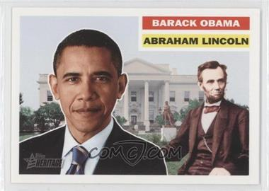 2009 Topps Heritage American Heroes Edition - [Base] #144 - Barack Obama, Abraham Lincoln