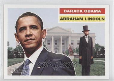 2009 Topps Heritage American Heroes Edition - [Base] #145 - Barack Obama, Abraham Lincoln