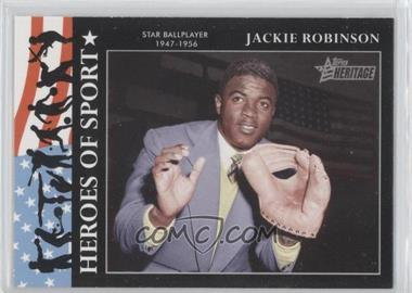 2009 Topps Heritage American Heroes Edition - Heroes of Sports #HS-1 - Jackie Robinson