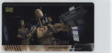 2009 Topps Star Wars: The Clone Wars Widevision - Animation Clear Cels #4 - Battle Droids