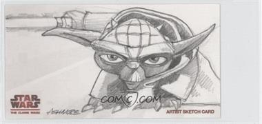 2009 Topps Star Wars: The Clone Wars Widevision - Sketch Cards #BAYO - Brian Ashmore (Yoda) /1