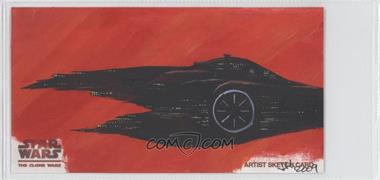 2009 Topps Star Wars: The Clone Wars Widevision - Sketch Cards #IHTM - Ingrid Hardy (The Malevolence) /1