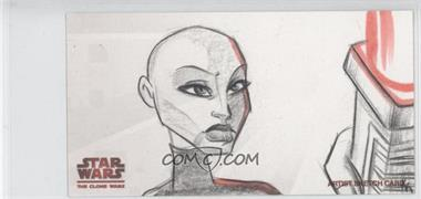 2009 Topps Star Wars: The Clone Wars Widevision - Sketch Cards #KKAV - Karen Krajenbrink (Asajj Ventress) /1