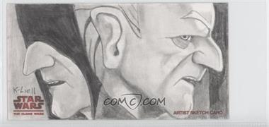 2009 Topps Star Wars: The Clone Wars Widevision - Sketch Cards #KLEP - Kevin Liell (Emperor Palpatine) /1