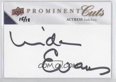 2009 Upper Deck Prominent Cuts - Cut Signatures #PC-EV - Linda Evans /18