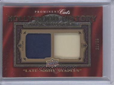 "2009 Upper Deck Prominent Cuts - Hollywood History Dual #HHD-24 - ""Late Night Staples"" (Mike Myers, Adam Sandler) /99"