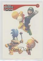 Luigi, Yoshi, Larry Koopa, Toad