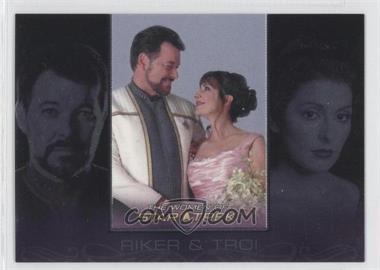 2010 Rittenhouse The Women of Star Trek - Romantic Relationships #RR1 - Jonathan Frakes, Marina Sirtis