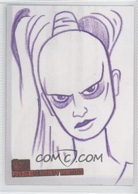 2010 Topps Star Wars: Clone Wars Rise of the Bounty Hunters - Sketch Cards #JHAS - Jason Hughes (Aurra Sing)