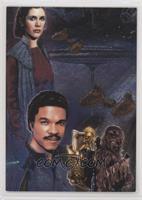 Princess Leia Organa, Lando Calrissian, Chewbacca, C-3PO