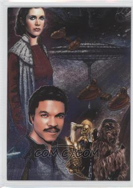 2010 Topps Star Wars Galaxy Series 5 - Etched Foil #4 - Princess Leia Organa, Lando Calrissian, Chewbacca, C-3PO