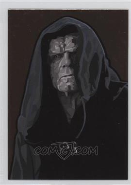 2010 Topps Star Wars Galaxy Series 5 - Foil Art - Bronze #11 - Emperor Palpatine
