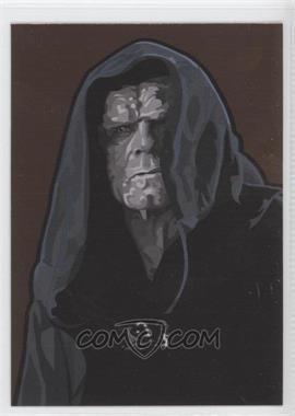 2010 Topps Star Wars Galaxy Series 5 - Foil Art - Bronze #11 - Emperor Palpatine