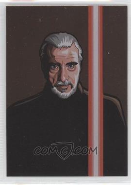 2010 Topps Star Wars Galaxy Series 5 - Foil Art - Bronze #4 - Count Dooku