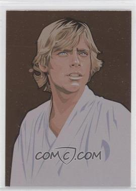 2010 Topps Star Wars Galaxy Series 5 - Foil Art - Bronze #8 - Luke Skywalker
