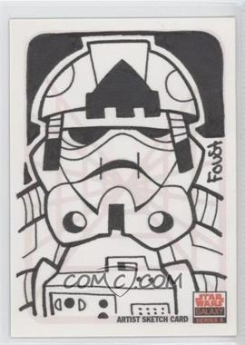 2010 Topps Star Wars Galaxy Series 5 - Sketch Cards #DFUC - Dustin Foust