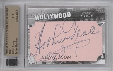 2011 Famous Fabrics Ink Hooray For Hollywood - Cut Signatures #ARTR - Arthur Tracy /1 [BGS/JSA Certified Auto]